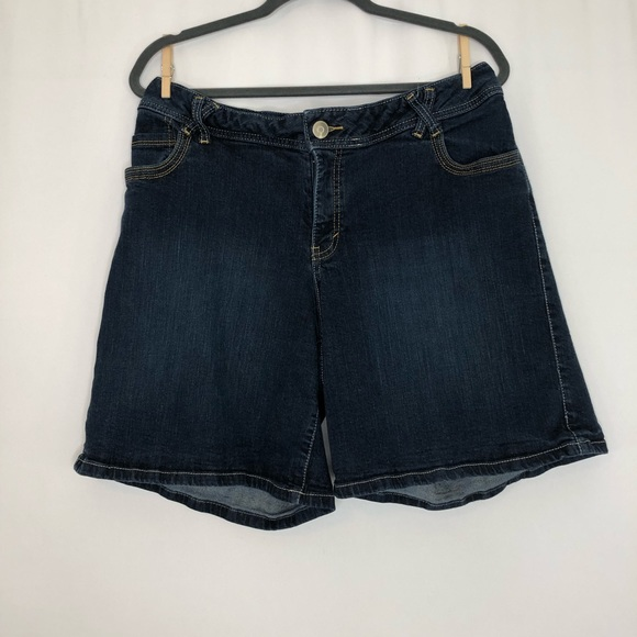 2019 Fashion Womens Lane Bryant Blue Jean Bermuda Shorts Denim Plus Size 22 In Euc Mixed Intimate Items